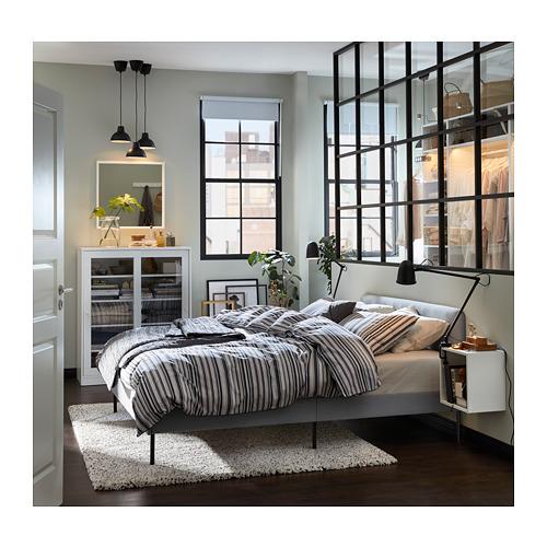 SLATTUM estructura de cama tapizado, full