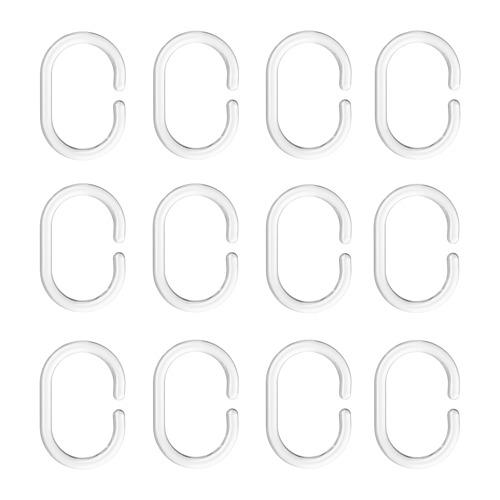 RINGSJÖN anillas para cortina de baño, juego de 12