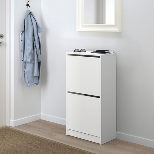 BISSA shoe cabinet with 2 compartments