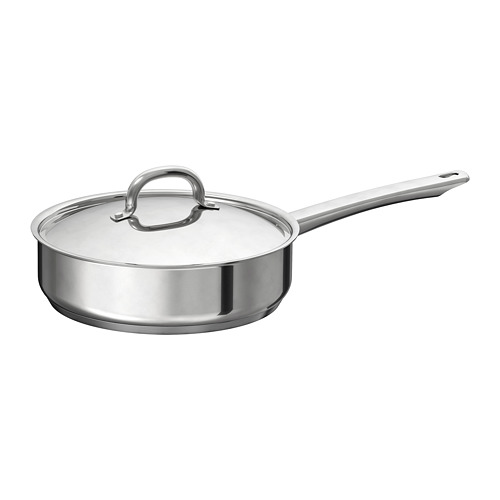 OUMBÄRLIG sauté pan with lid