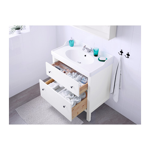 HEMNES/RÄTTVIKEN armario para lavamanos con 2 gavetas, juego de 2