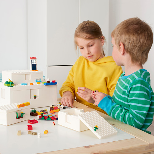 BYGGLEK caja con tapa LEGO®