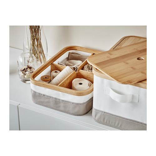 RABBLA caja con tapa y compartimientos