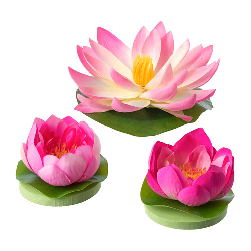 SMYCKA floating artificial flower set of 3