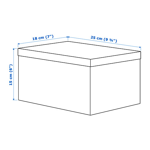 TJENA caja de almacenaje+tapa