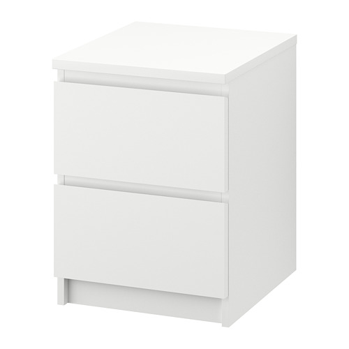 MALM vertical chest of 2 drawers