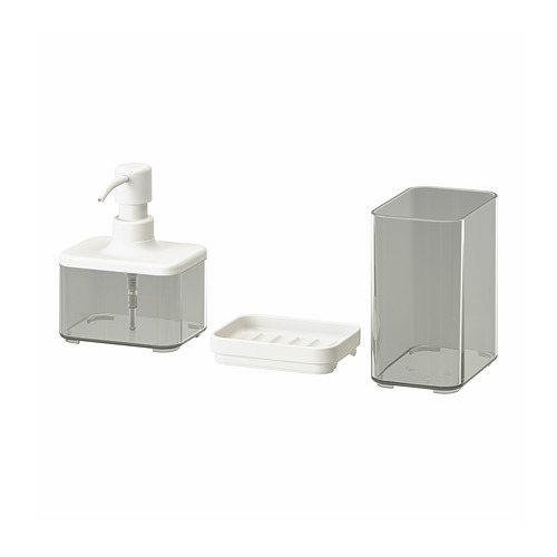 BROGRUND juego de baño, 3 piezas