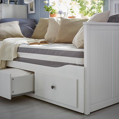 HEMNES diván+3 gavetas y 2 mattresses twin