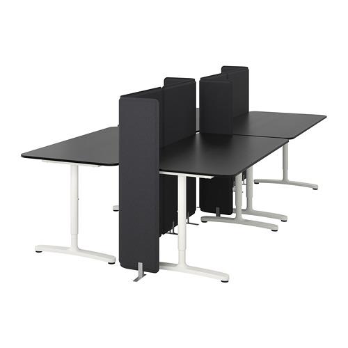 BEKANT escritorio con pantalla
