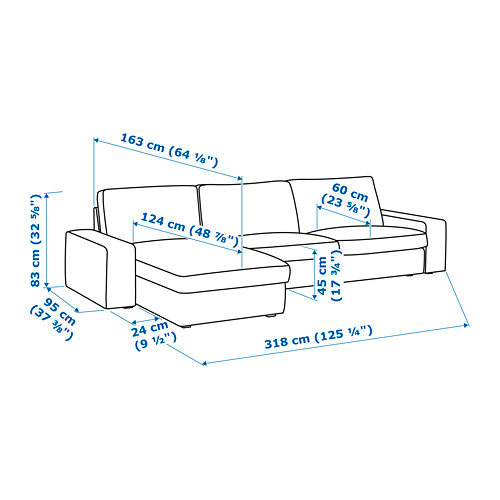 KIVIK módulo seccional, 4 plazas