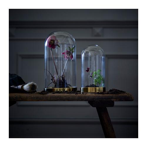 BEGÅVNING domo de vidrio+base