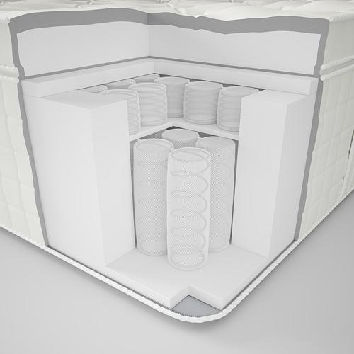 HJELLESTAD mattress+colchoncillo integrado, king