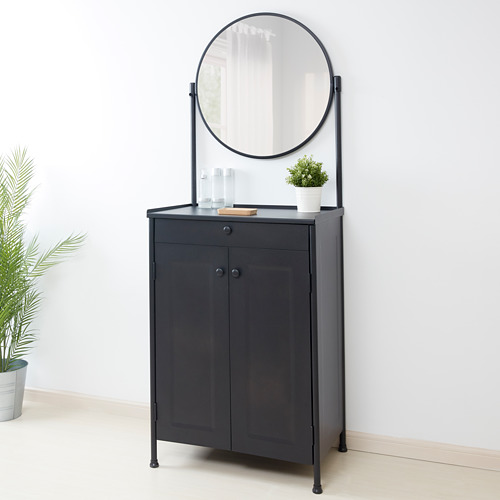 """KORNSJÖ armario con espejo,27 1/2 """"x18 1/2 """"x73 5/8 """""""