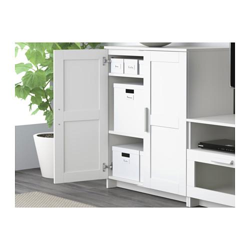 BRIMNES cabinet with doors