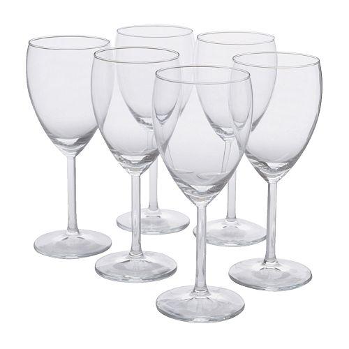 SVALKA copa para vino blanco, 6 piezas