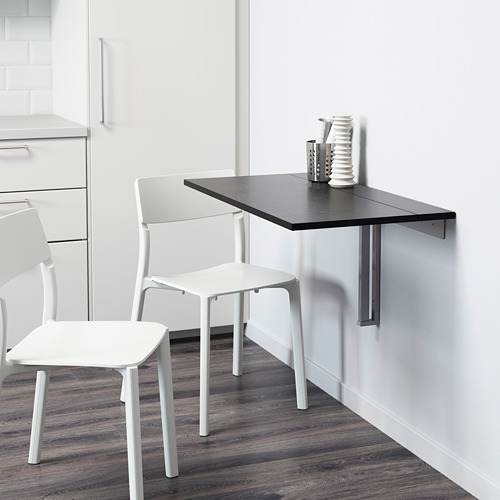 BJURSTA wall-mounted drop-leaf table