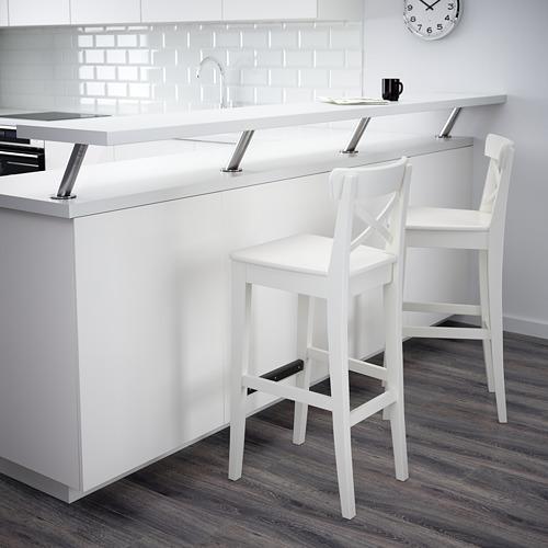 INGOLF bar stool with backrest