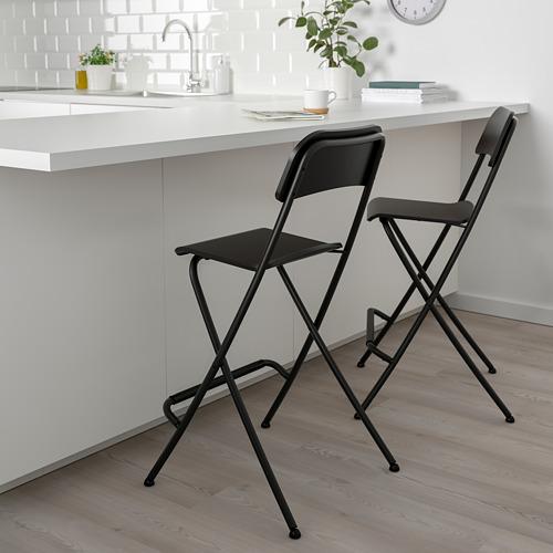 FRANKLIN bar stool with backrest, foldable
