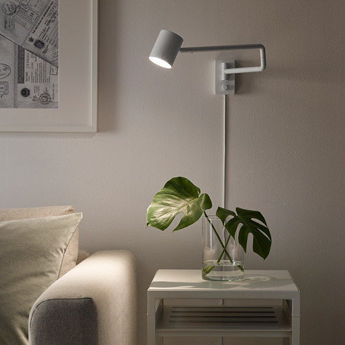 NYMÅNE wall lamp with swing arm