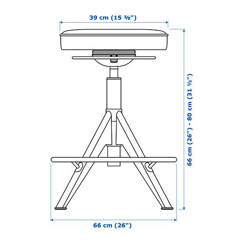 TROLLBERGET soporte sentado/de pie