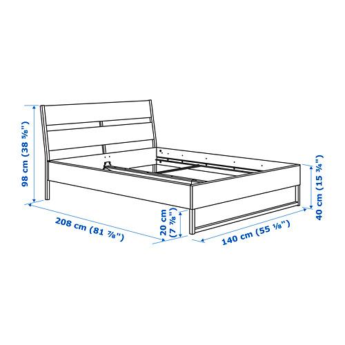 TRYSIL estructura de cama, full