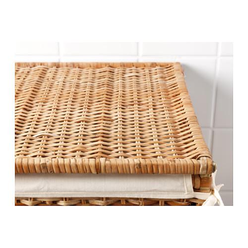 BRANÄS canasta para ropa sucia con forro