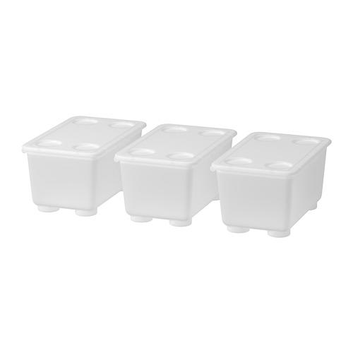GLIS caja con tapa, juego de 3 unidades