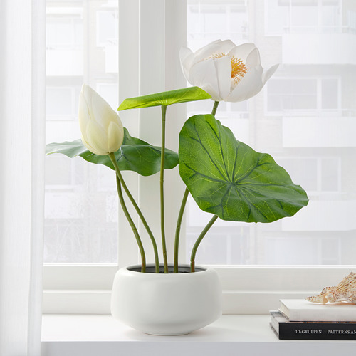 FEJKA artificial potted plant with pot