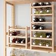 HUTTEN 9-bottle wine rack