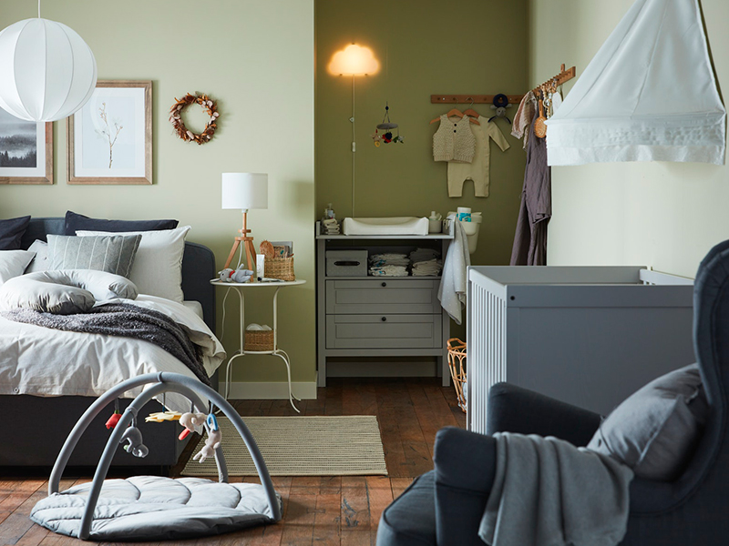 A bedroom for you and your baby too