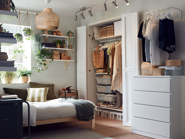 A bedroom where everything is in its place